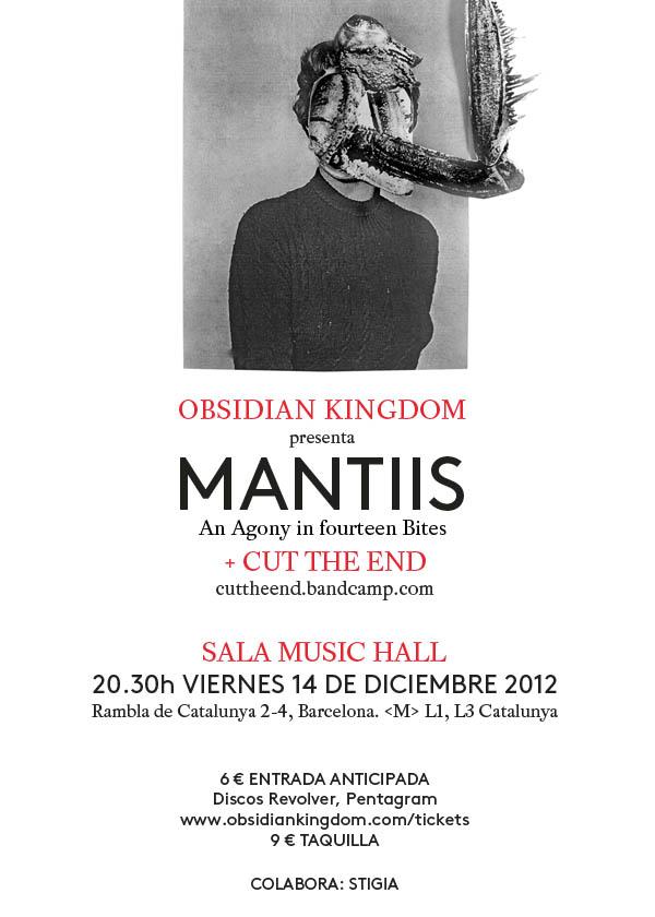obsidian kingdom mantiis release show poster