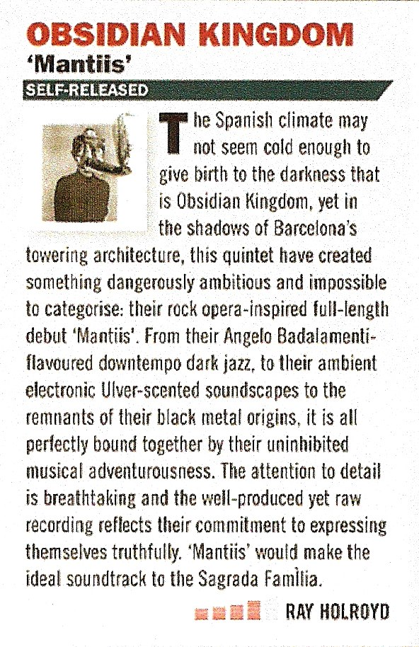 Obsidian Kingdom - Mantiis - Terrorizer Review