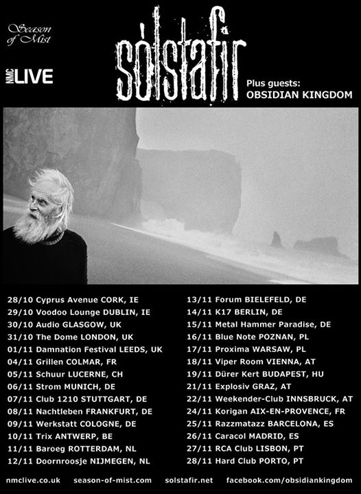 Obsidian Kingdom + Sólstafir European Tour