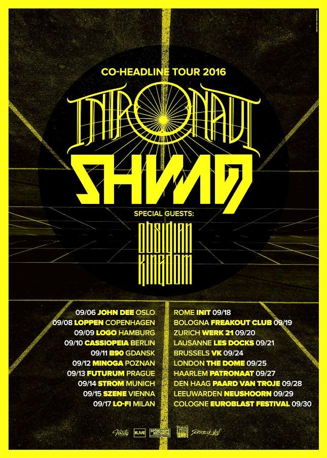 Obsidian Kingdom - European tour with Intronaut and Shining 2016