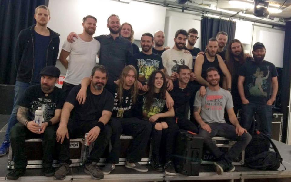 Obsidian Kingdom - Intronaut - Shining - End of tour pic 2016